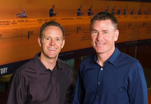 (L-R) Tim Porth and Dennis Lee founded Octane Fitness in 2001 / Octanefitness.com