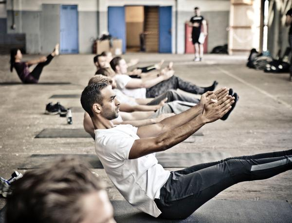 Broga is designed to help get men into yoga and is often held on the gym floor rather than in a studio