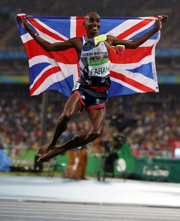 Mo Farah's double gold at Rio (5,000m and 10,000m) made him the UK's first track athlete to win three Olympic golds / Mike egerton / press association