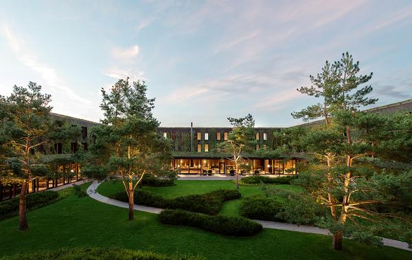 The rooms at the Lanserhof Tegernsee are arranged around a central courtyard