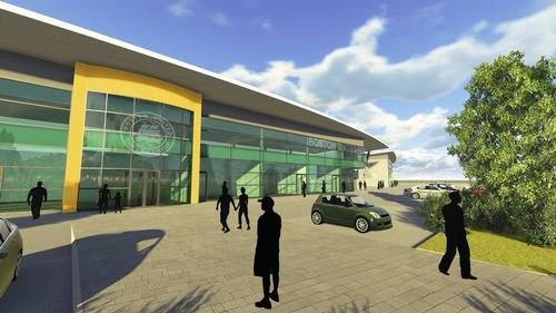 The community stadium will be the centre of a £100m mixed-use development / Boston United