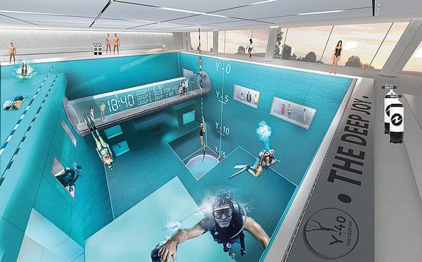 The shallower sections cater for learners, less experienced divers and swimmers