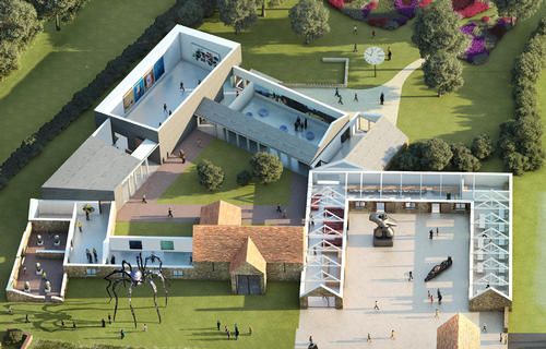 Artist's impression of Hauser & Wirth Somerset / Hauser & Wirth