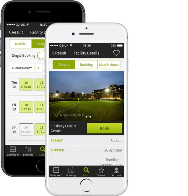 The app makes booking sports pitches or courts as easy as booking a restaurant table