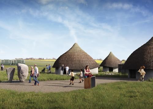 Test-build of Neolithic houses underway at Stonehenge