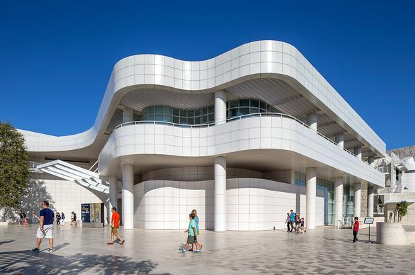 Meier won the commission to design the Getty Center in 1984. It opened in Los Angeles in 1997