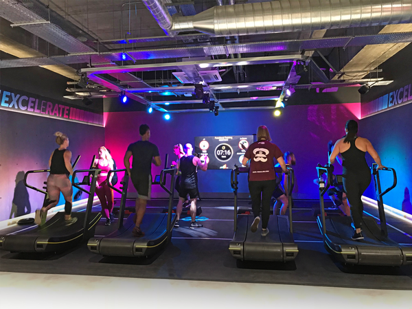 Members have a choice of seven specialist areas in which to exercise, all kitted out by Technogym