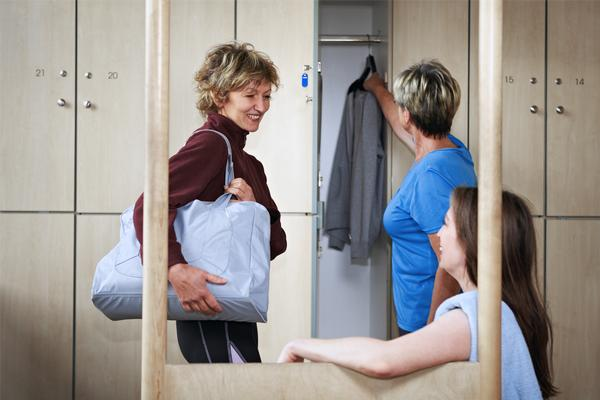 Two-thirds of members are annoyed if they can't find a locker / photo: www.shutterstock.com