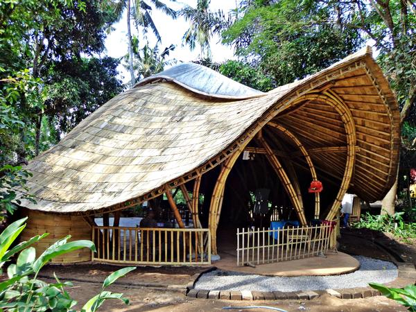 Open-sided, sustainable bamboo buildings make up the Green School campus in Bali, Indonesia / PHOTO: Manuel Gomes da Costa