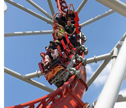 Europe's first triple-launch coaster debuts in Germany