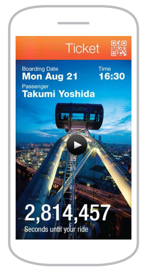 Visitors can use the Nippon Moon app to customise their experience