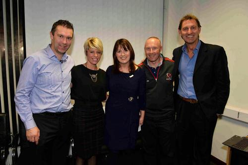The scheme will be supported by former Arsenal captain Tony Adams (far right) and his Sporting Chance charity / SNI
