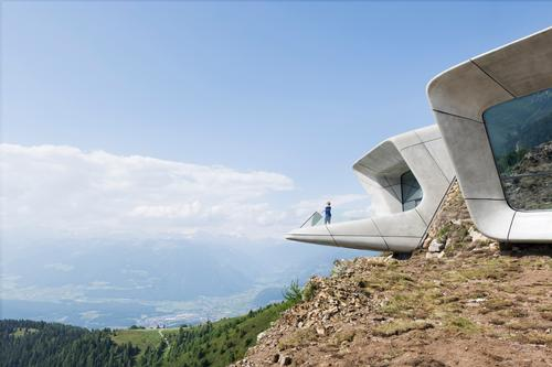 Zaha Hadid's design blends the museum in with its surroundings / Zaha Hadid Architects