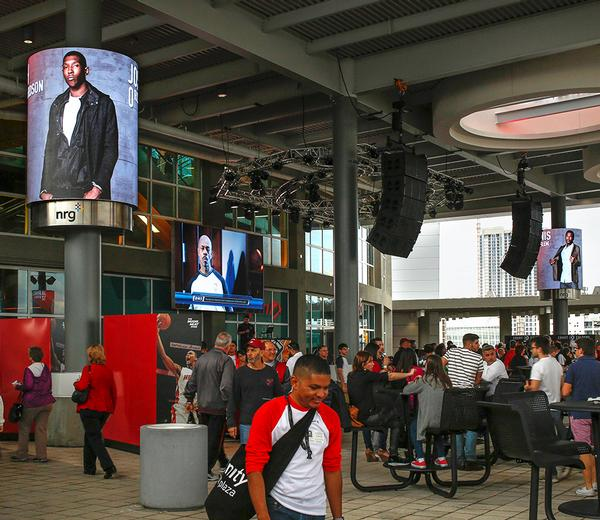 Xfinity East Plaza uses LED screens to keep fans connected to the action while they are out of their seats / jay thomas