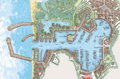 Masterplan of Puerto Los Cabos - the location of the new Ritz-Carlton Reserve Hotel / EDSA
