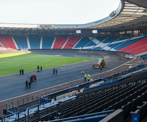 The official unveiling of the Hampden works