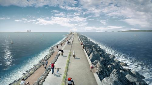 Proposals for the world's first tidal lagoon to generate clean electricity are being masterplanned by LDA Design / Tidal Lagoon Power