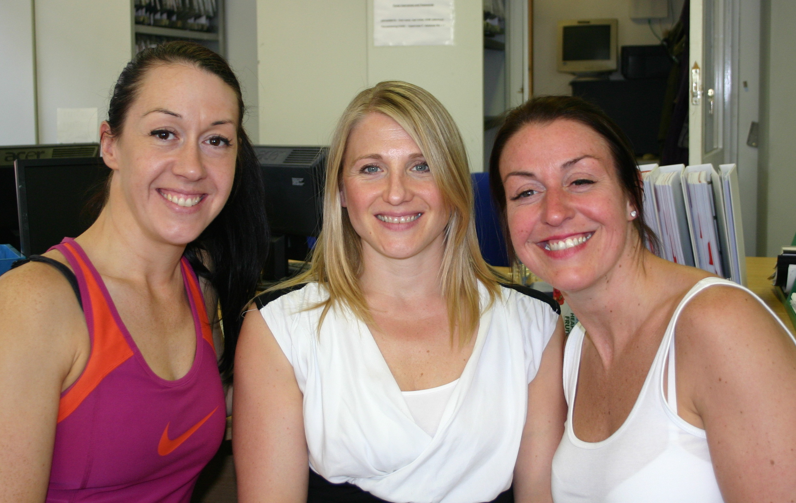 Personal trainers (left to right) Zoey Rufus, Sarah Boyd and Becky Thomson aim to boost the tutor support team