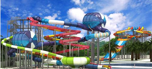 Thailand's US$60m Dino Waterpark takes shape as slides installed
