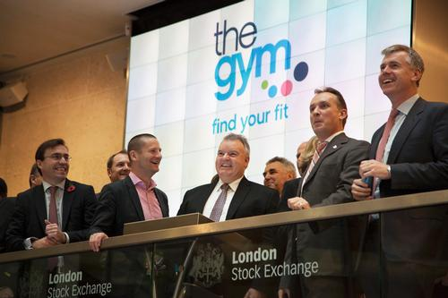 Treharne and his top team at the London Stock Exchange on the day of The Gym Group's IPO / Camilla Treharne