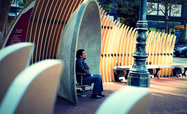 The Living Innovation Zone project saw San Francisco partner with the Exploratarium museum to create outdoor installations to connect people