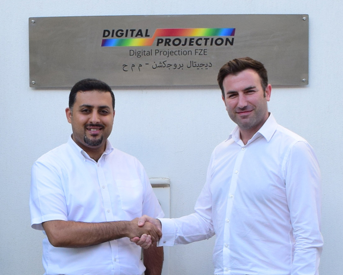 Abdulrahman Aladawi is welcomed into the company by Matthew Horwood, general manager Middle East