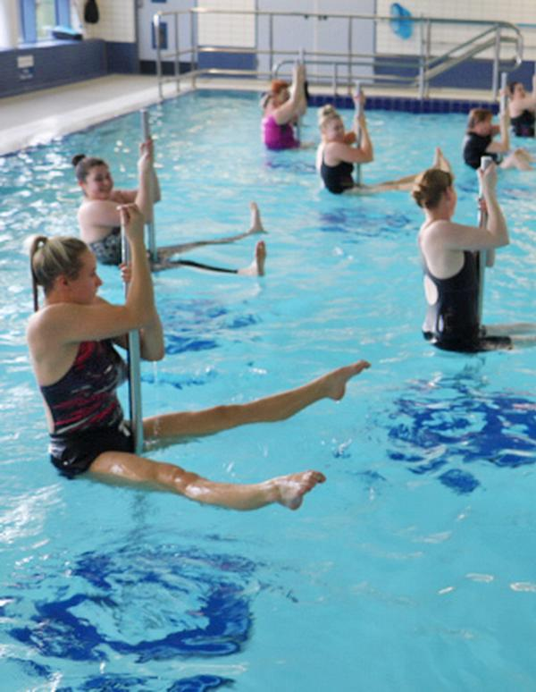 New fitness classes have attracted a wider range of customers to the pool