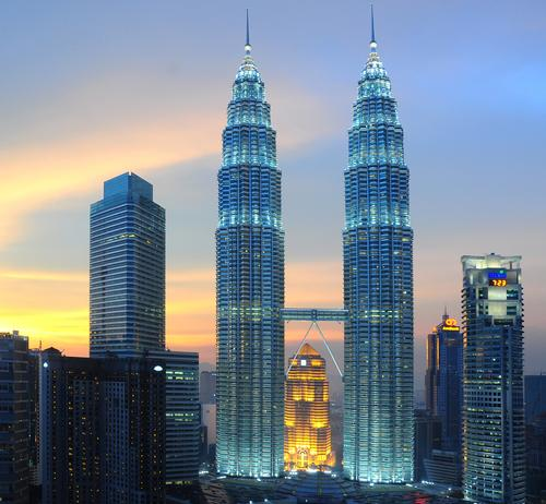 The hotel will be in the Kuala Lumpur City Centre (KLCC), near to the world-famous PETRONAS Towers / Shutterstock