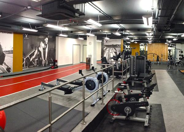 The club offers a sprint track and equipment from Life Fitness