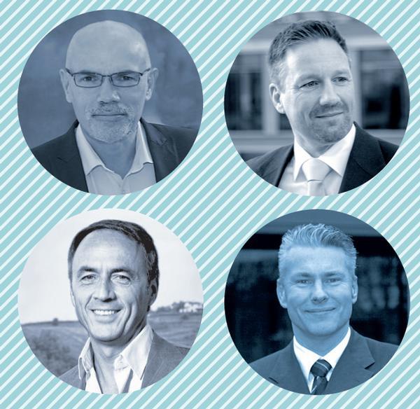 EHFF speakers, clockwise from top left:  Julian Berriman, Karsten Hollasch, Jan Middelkamp, and Nerio Alessandri.