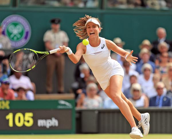 Johanna Konta's 2017 Wimbledon success boosted viewing figures / ©  Adam Davy/PA Wire/PA Images