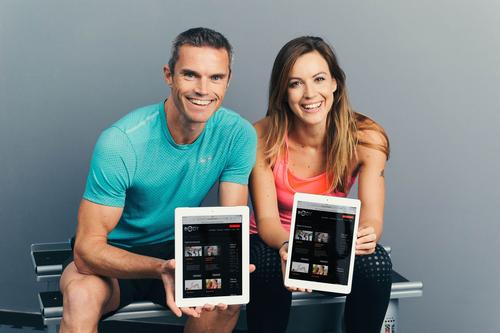 Former Sky Sports presenter Webster (right) is the latest addition to Matt Roberts' new fitness channel