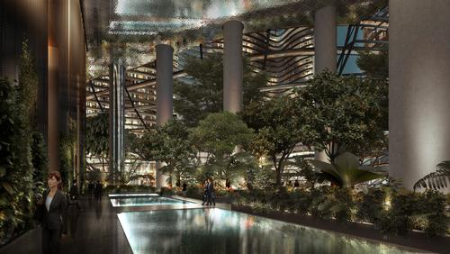The atrium will provide Singapore's largest public plaza / Ingenhoven Architects, M+S Pte Ltd, Gustafson Porter
