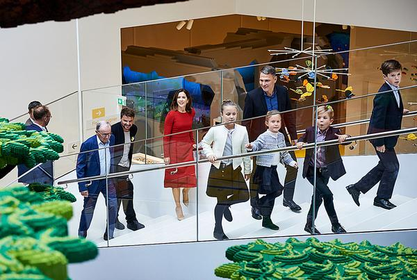 Opening day at the Lego House with the Danish Royal Family