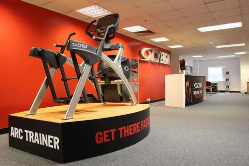The onsite gym at Cybex's new headquarters will serve as a showcase site for the manufacturer's fitness equipment.