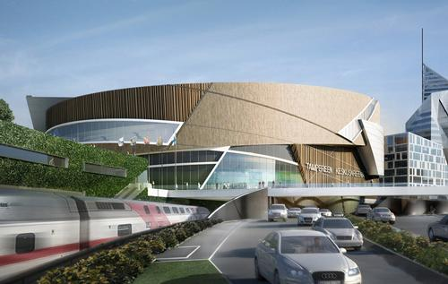 The Arena has been designed by US-based Daniel Libeskind / Keskusareena