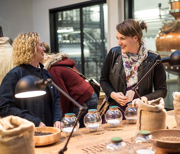 In the dry room, visitors can try ingredients ranging from cubeb berry to cassia bark