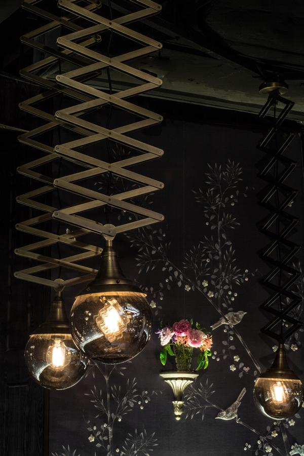 The lighting in Mott 32 has different mood settings for the day and night