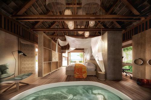 Spa pools and massage rooms will feature in the resort / Jestico + Whiles
