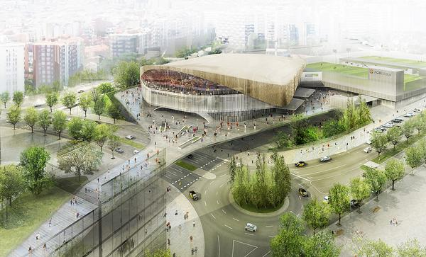 The new 10,000 stadium will replace the existing 7,500 seat Palau Blaugrana