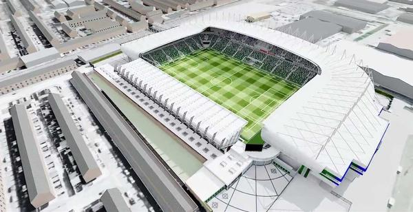 The new development will be incorporated into the stadium's West Stand