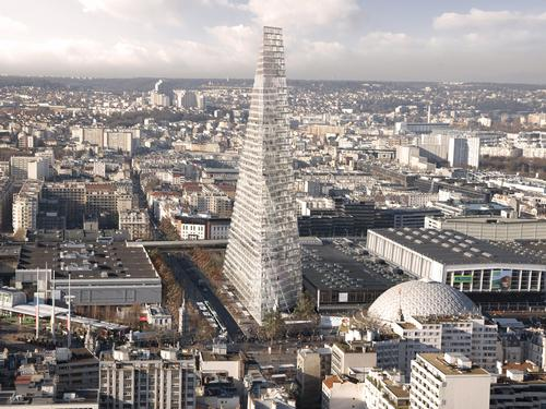 Triangle Tower will become Paris' third tallest building / Herzog and De Meuron