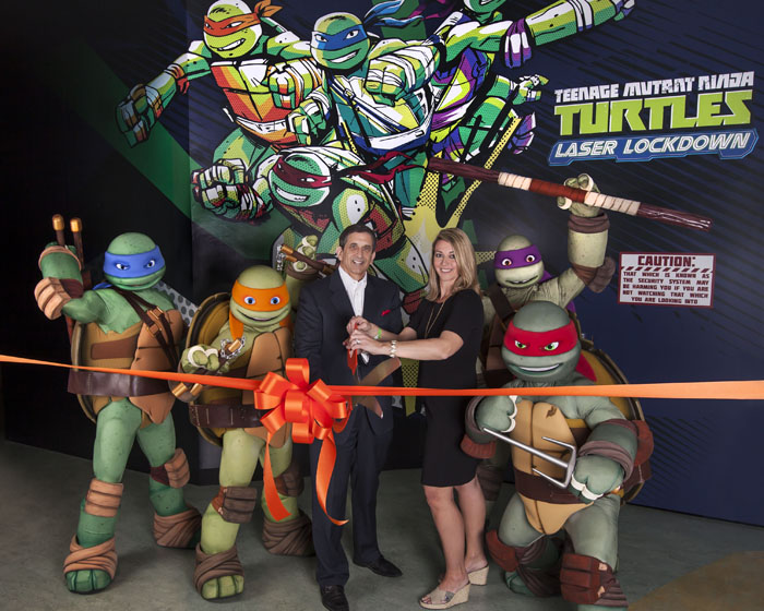 Laser precision for Teenage Mutant Ninja Turtles attraction
