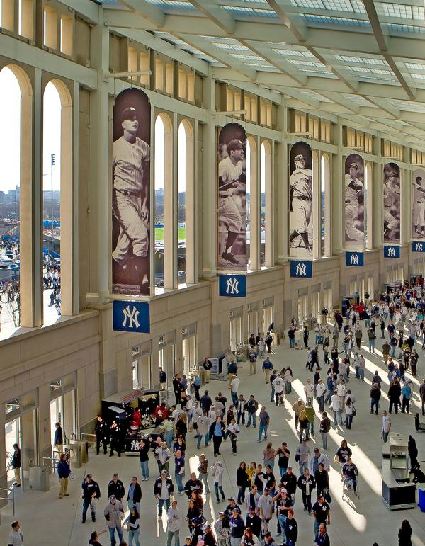 The materials and detailing of the new Yankee Stadium were inspired by the original 1923 stadium