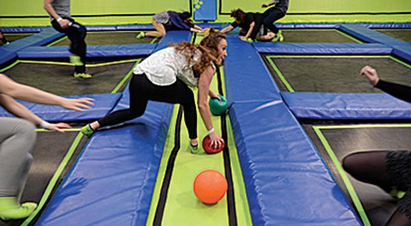 Activities such as dodgeball keep people coming back