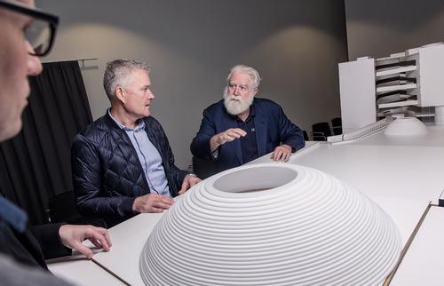 Architect and artist are working together to create a new underground gallery and two art installations / Morten Fauerbyv