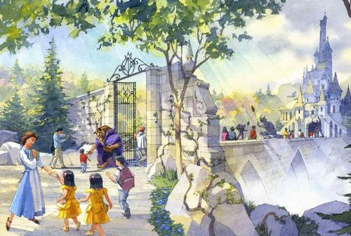 Beauty and the Beast will be a major part of the redevelopment / Disney