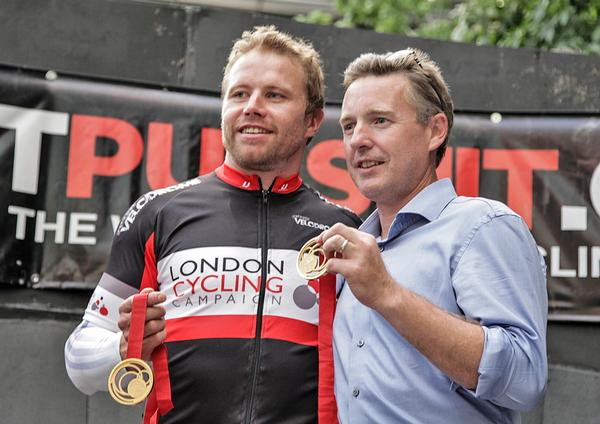 Carl Thompson (right) founded Street Velodrome following London 2012