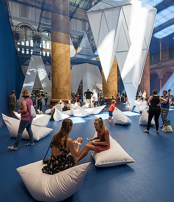 James Corner's Icebergs installation for the National Building Museum's Summer Block Party Series