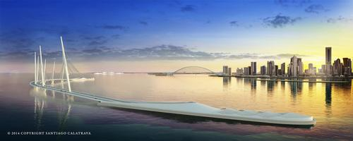The Spanish architect's design for the Sharq Crossing in Doha / The European Prize for Architecture